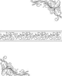 欧式花推拉门雕刻图案