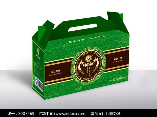 时尚中国风绿色礼盒包装图片