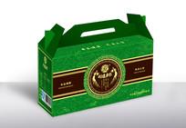 时尚中国风绿色礼盒包装