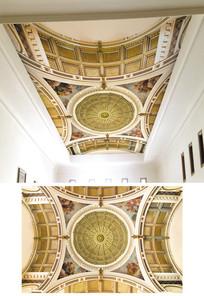 金色3d欧式天花吊顶背景墙