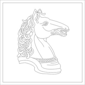 马头雕刻图案