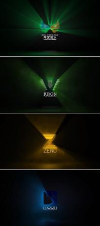 企业logo标志光线轮廓描边动画ae模板