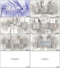 时尚三维空间照片展示AE模板