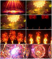 动感印度舞曲LED视频素材