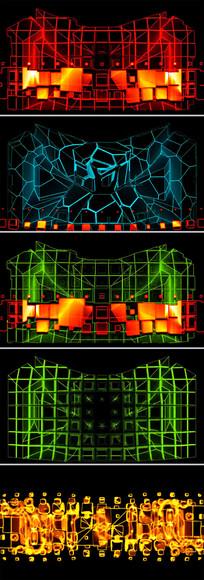 动感激光LED舞台背景酒吧VJ视频素材