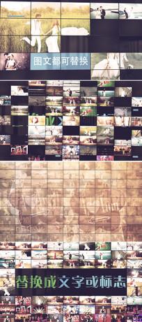 震撼企业员工照片墙ae模板