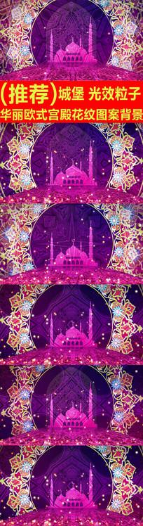 华丽欧式宫殿花纹图案背景