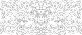 龙头雕刻图案