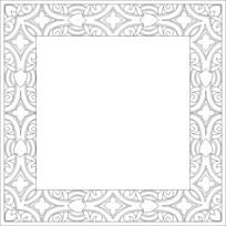 欧式边框雕刻图案