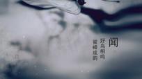 水墨蝴蝶渲染节日片头模板