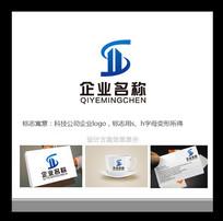 大气蓝色科技公司房地产公司企业logo