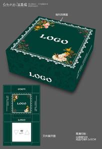 歐式花紋紙巾盒