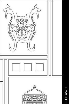 龙鼎图雕刻图案