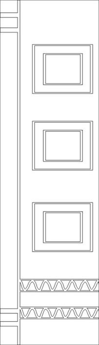 方框线图雕刻图案