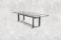 方形长桌子