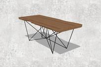 钢脚架桌子
