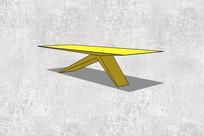 黄色的现代桌