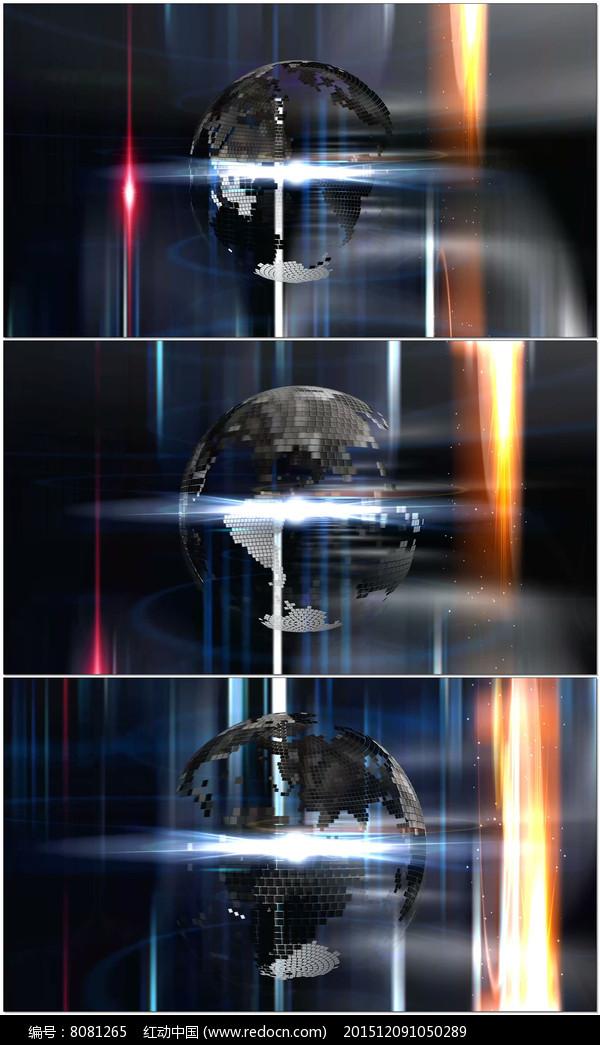 科技地球旋转栏目动态背景视频图片