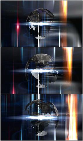 科技地球旋转栏目动态背景视频