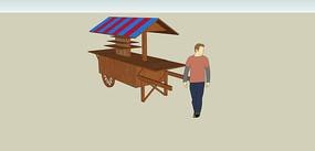 木制手推贩卖车