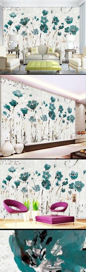 花卉背景墙
