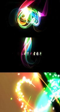 抽象粒子光线丝带演绎LOGO