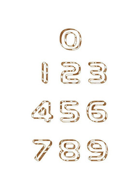 花纹个性数字设计