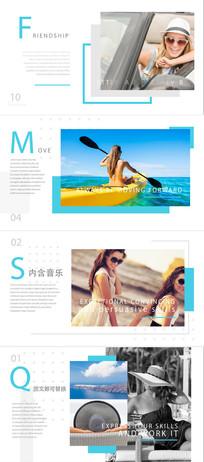 简洁时尚杂志写真节目包装ae模板