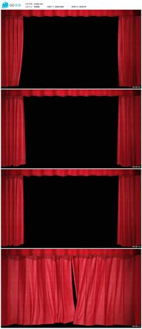 舞台幕布帘幕拉开关闭视频素材