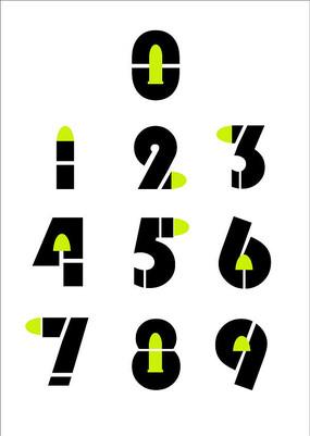 数字字体设计系列 CDR