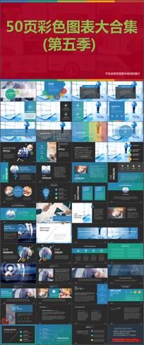 图片展示文本框数据图表PPT模版