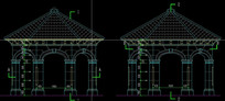 cad石材八角亭施工图