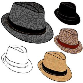 爵士帽矢量图设计素材