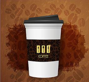 咖啡杯矢量圖