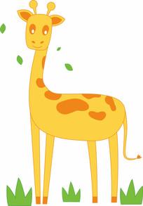 卡通动物长颈鹿
