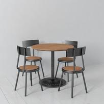 loft风格金属原木餐桌椅子3DMAX模型