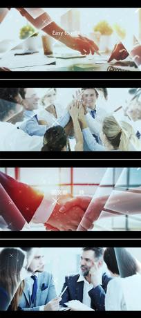 三维光线边框视差企业宣传片模板