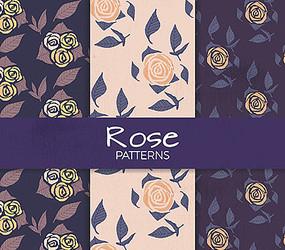玫瑰花紋矢量圖