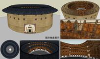 土樓建筑模型