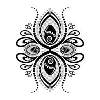 黑色创意花朵插图素材设计