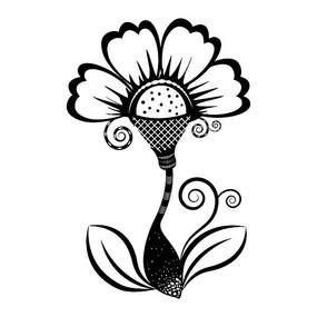黑色个性印花图案设计