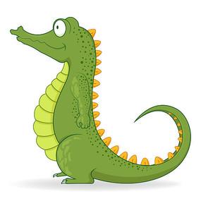 卡通鳄鱼插画