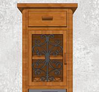 歐式花紋木質桌