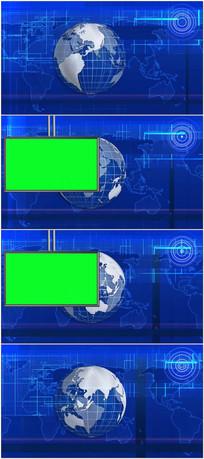虚拟演播室动态绿屏抠像背景视频