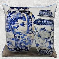 中式青花瓷抱枕