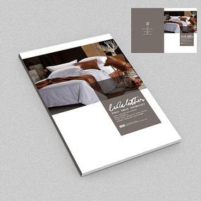 中式意境床上用品家纺画册封面