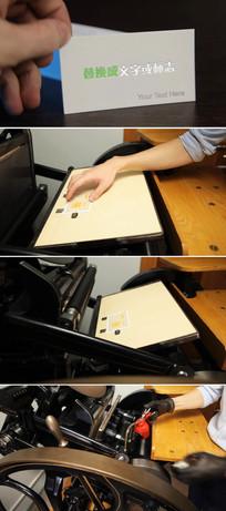 创意名片印刷logo标志展示微信小视频模板