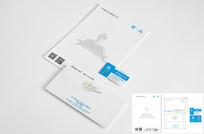 企業VI信紙信封名片設計