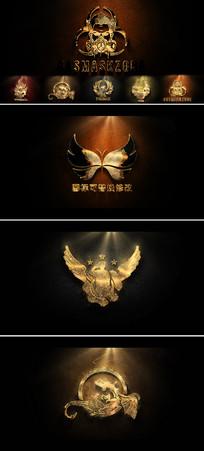 震撼史诗金色粒子文字logo片头AE模板