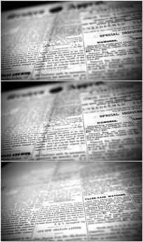 4K旧报纸特写镜头视频